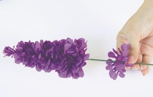 cách làm hoa oải hương bằng giấy