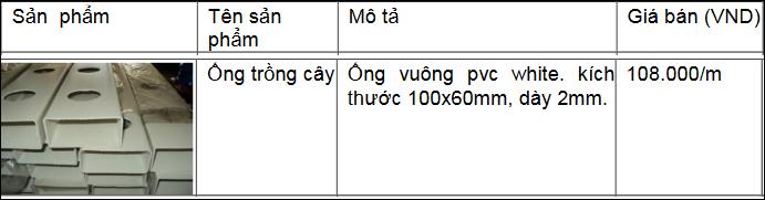 ống trồng cây pvc 1